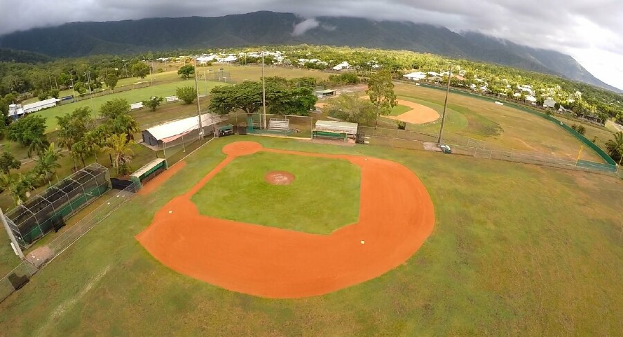 baseball aerial